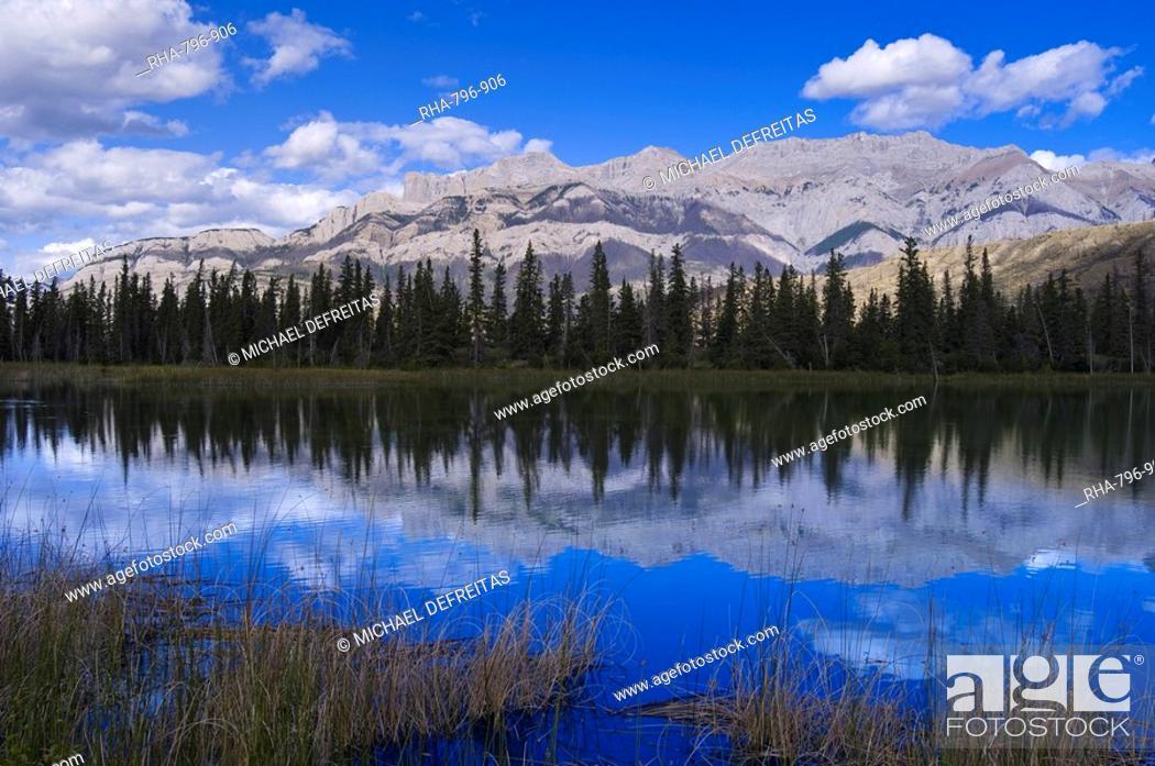 Stock Photo: Jasper National Park, UNESCO World Heritage Site, Alberta, Rocky Mountains, Cananda, North America.