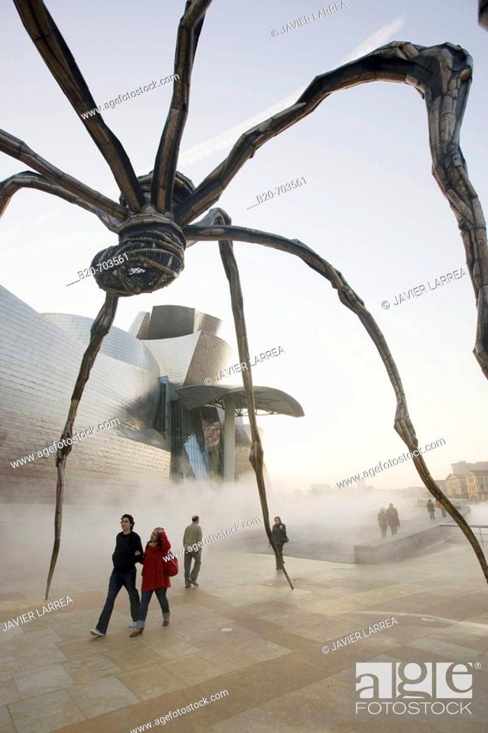 Stock Photo: Guggenheim Museum, by F.O. Gehry. Bilbao. Biscay. Spain.