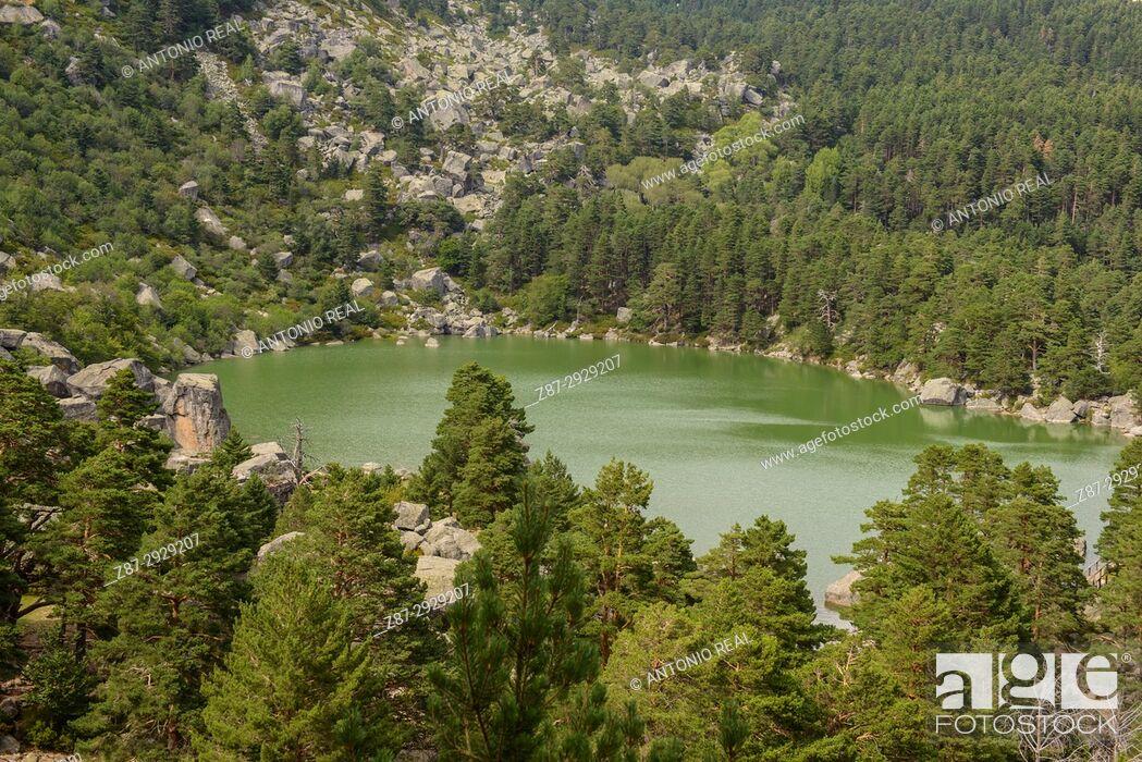Stock Photo: Laguna Negra. Parque natural de Sierra de Urbión y Laguna Negra. Soria province, Castile-Leon, Spain.