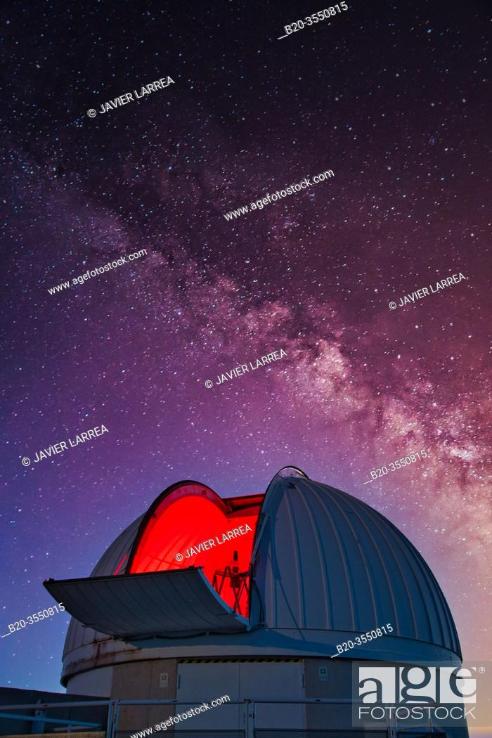 Stock Photo: The IAC-80 Telescope, Observatorio del Teide, Tenerife, Canary Islands, Spain...The IAC-80, has been completely designed and built by the Instituto de.