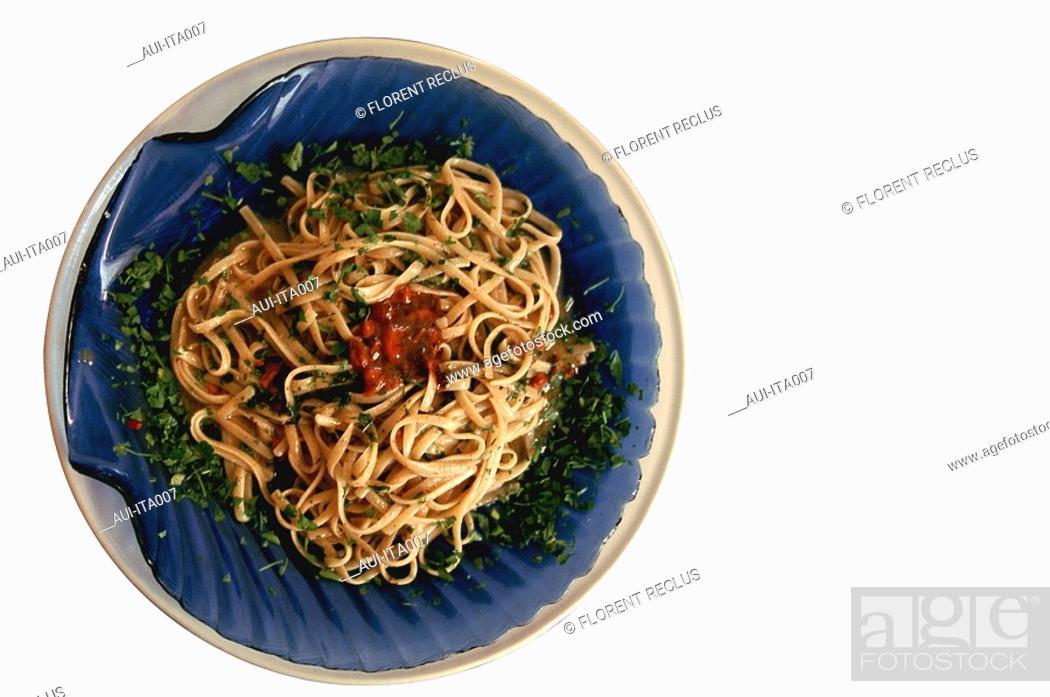 Stock Photo: Italy - Pasta - Linguinacou Polpodi Ricci.
