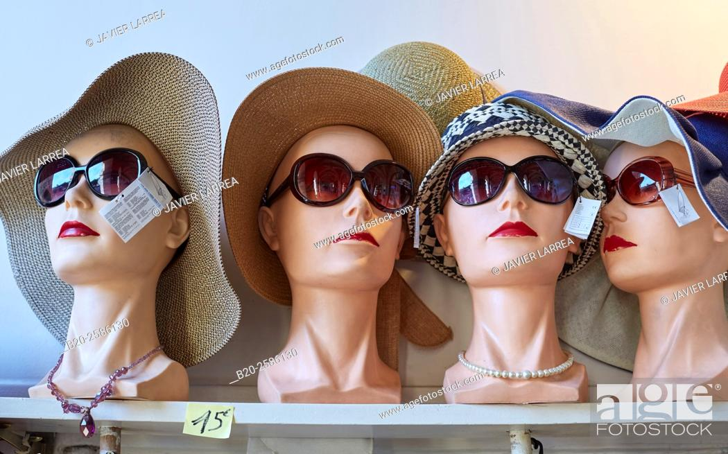 Stock Photo: Hats and sunglasses, Paris, France.