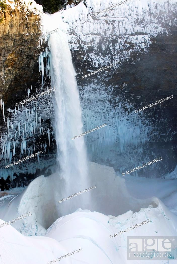 Stock Photo: Helmcken Falls in winter, Wells gray Provincial Park British Columbia Canada.