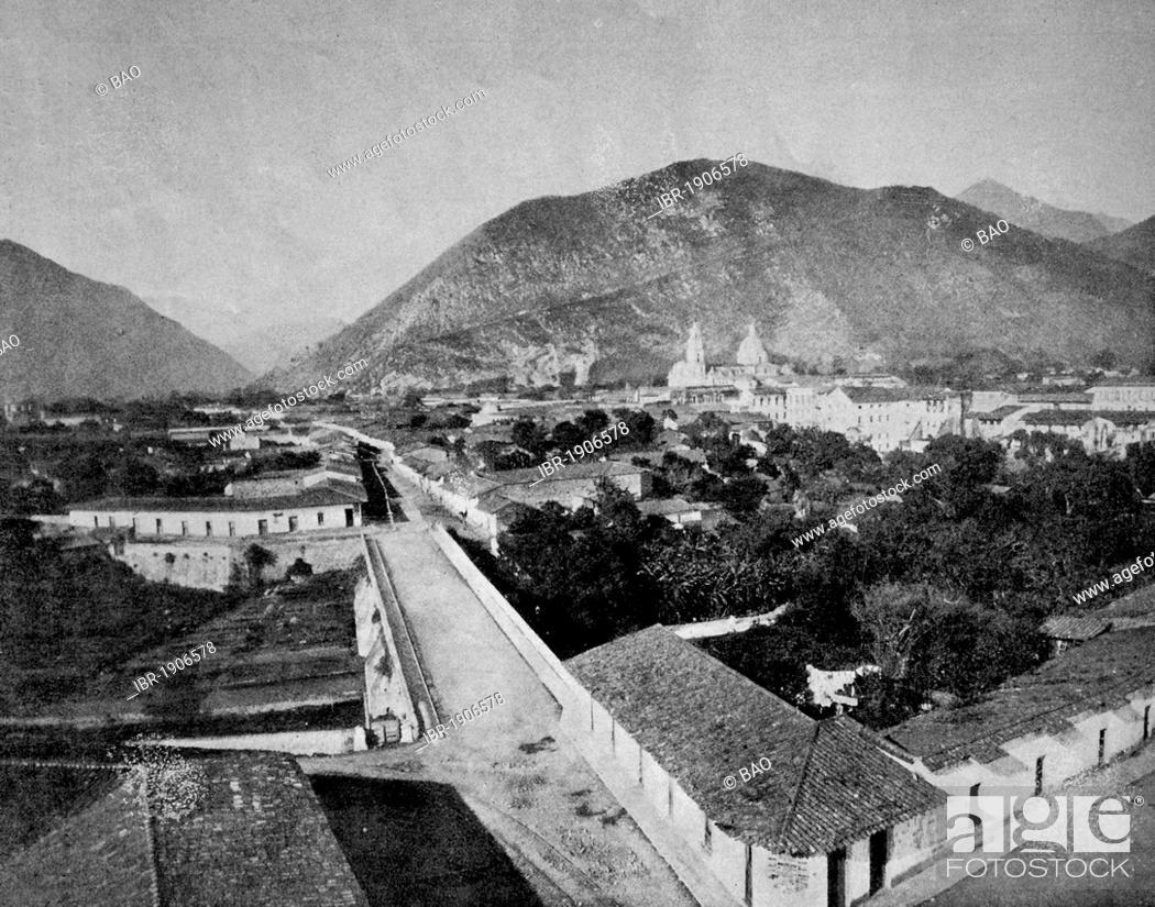 Stock Photo: Early autotype of Orizaba, Mexico, 1880.