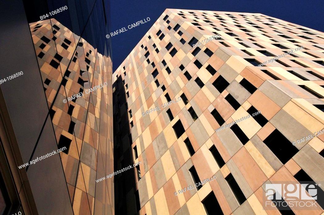 Stock Photo: Offices building in Avinguda Diagonal 197, Barcelona. Catalonia, Spain.
