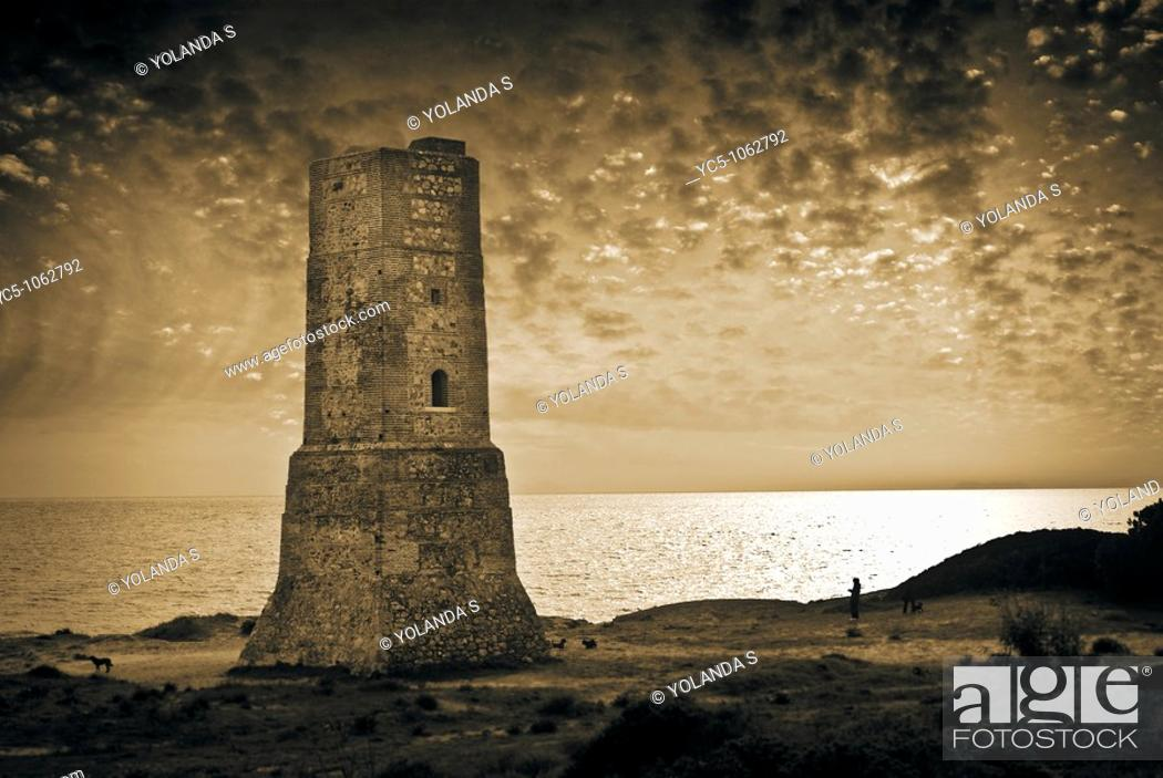 Stock Photo: Tower, Cabopino, Marbella. Costa del Sol, Malaga province, Andalusia, Spain.