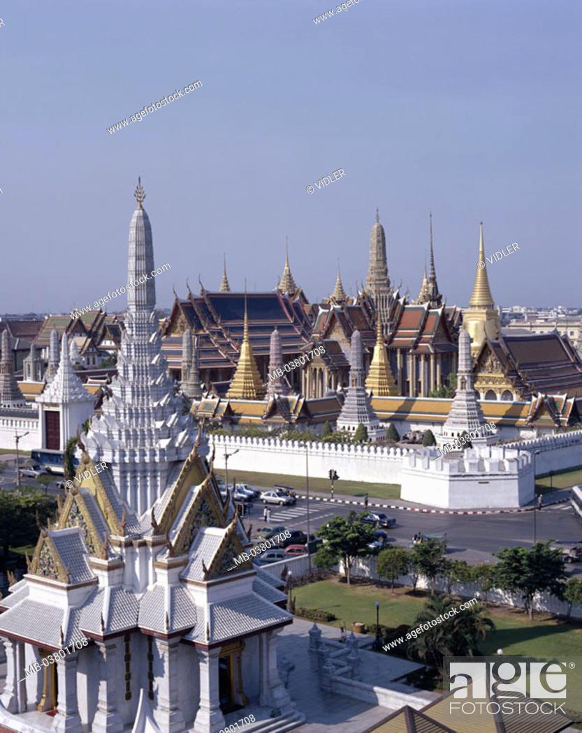 Thailand Bangkok Wade Phra Kaeo Sacral Area Asia Southeast Asia