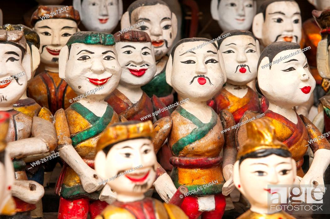 Stock Photo: Puppets of the Thang Long Water Puppet Theatre. Hanoi. Vietnam.