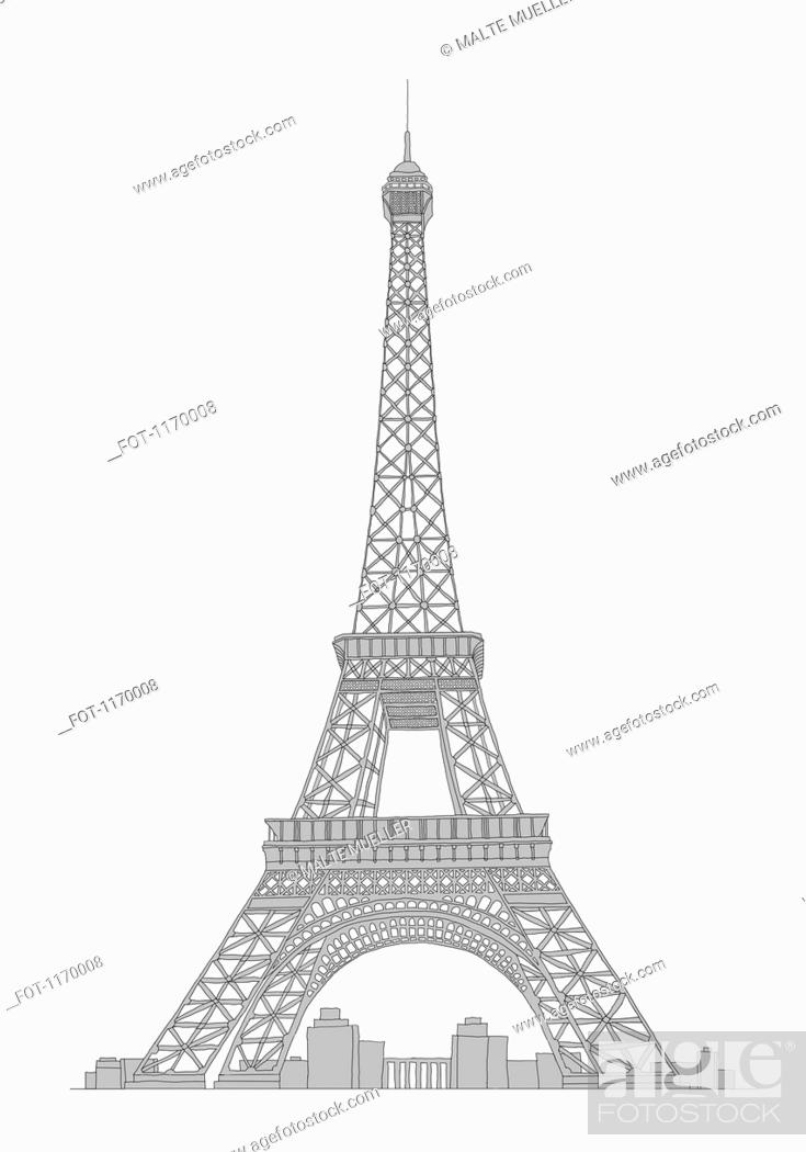 Stock Photo: Eifel tower.