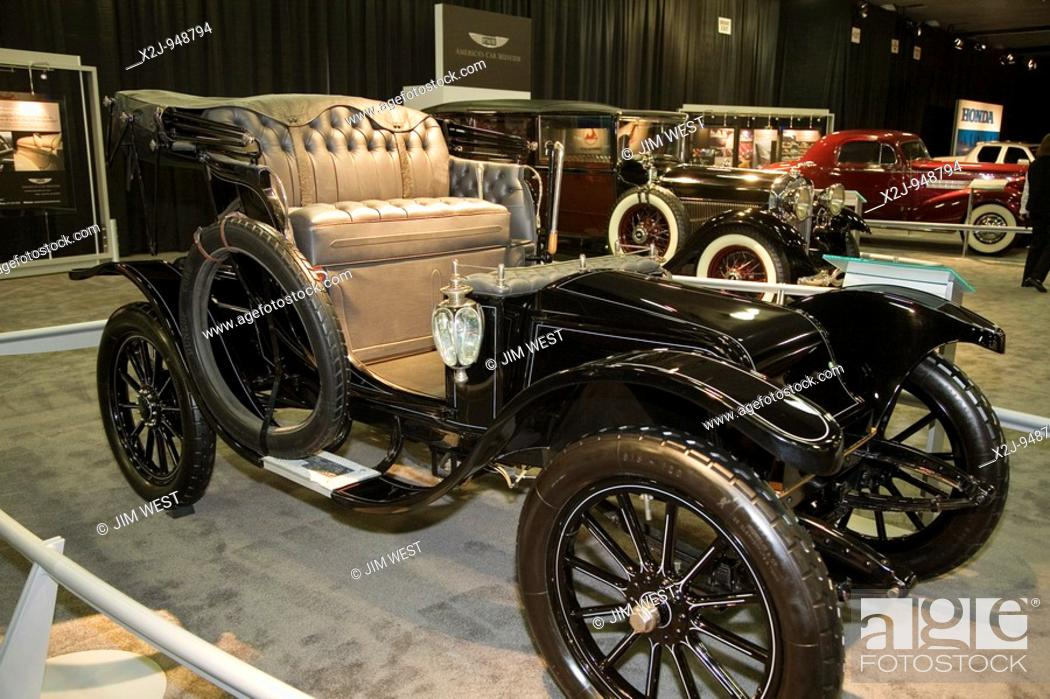 Stock Photo Detroit Michigan The 1912 Standard Electric Roadster On Display At North American International Auto Show Car Was Able To Run 110