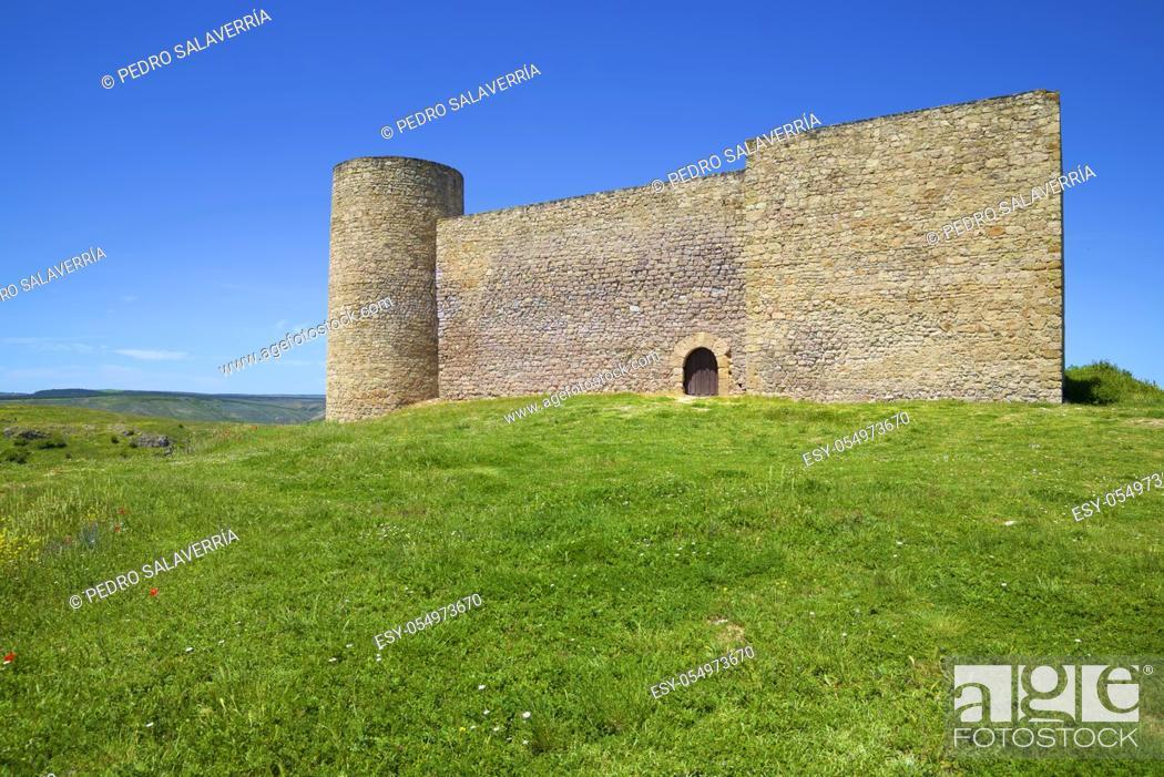 Stock Photo: Castle in Medinaceli, Soria Province, Castilla Leon in Spain.