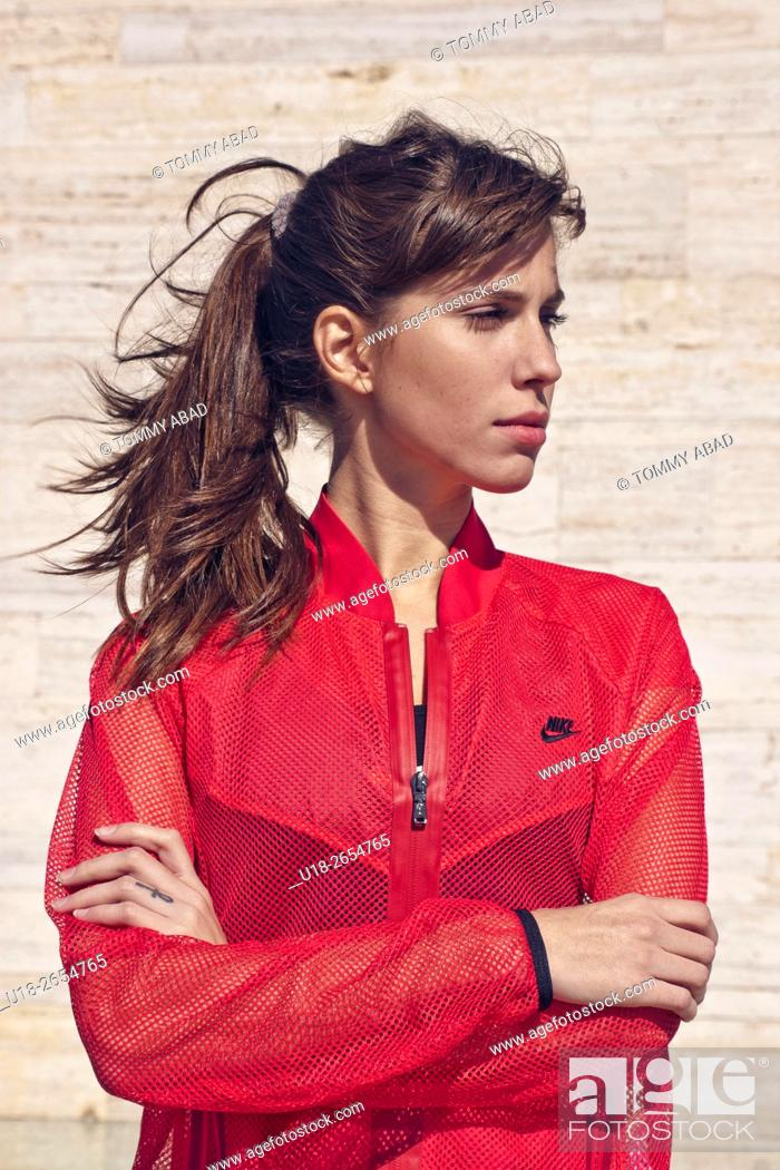 Stock Photo: girl in sportive clothes.