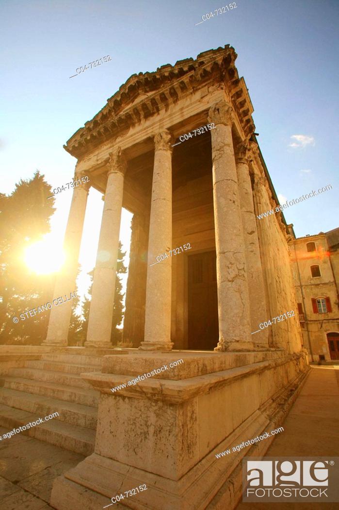 Stock Photo: Temple of Augustus, Pula. Istrian peninsula, Croatia.