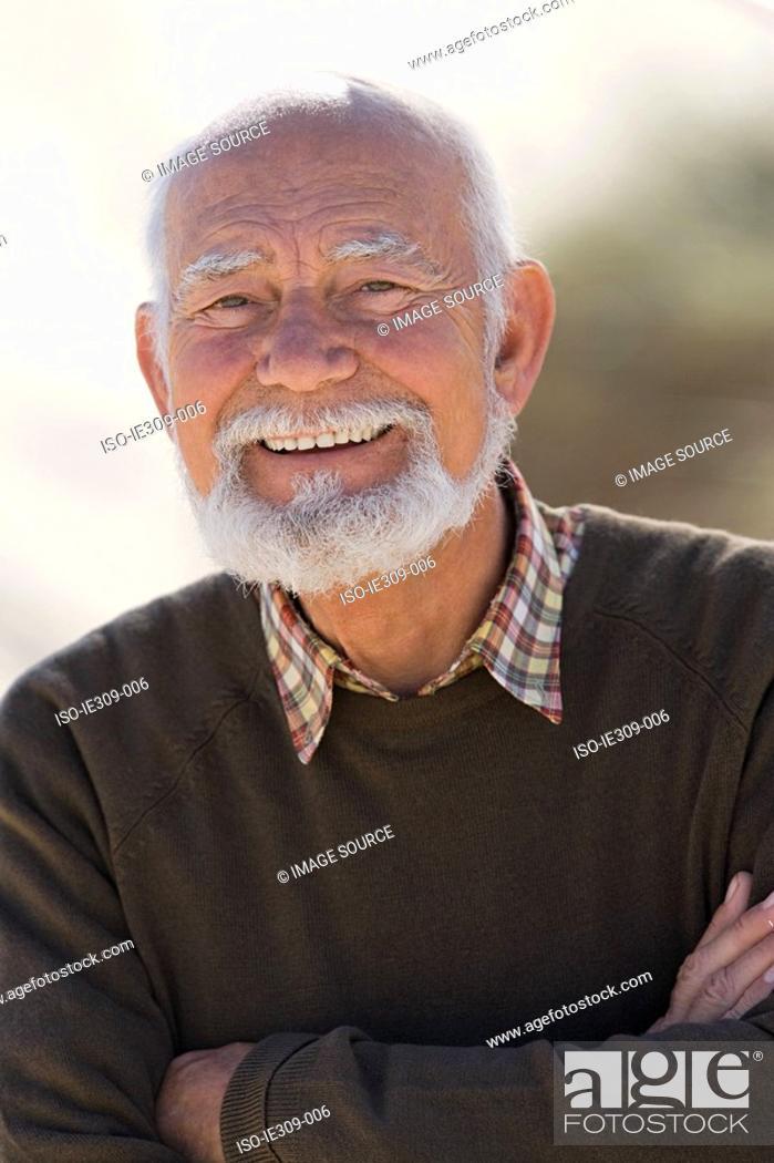 Stock Photo: Smiling senior adult man.