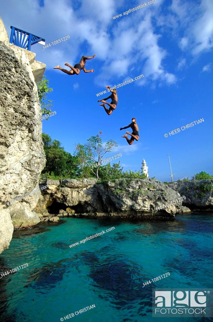 10851229, Caribbean, Negril, Jamaica, The Caves Ho, Stock