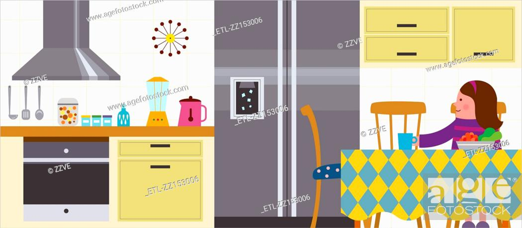 Stock Photo: Kitchen Interior.