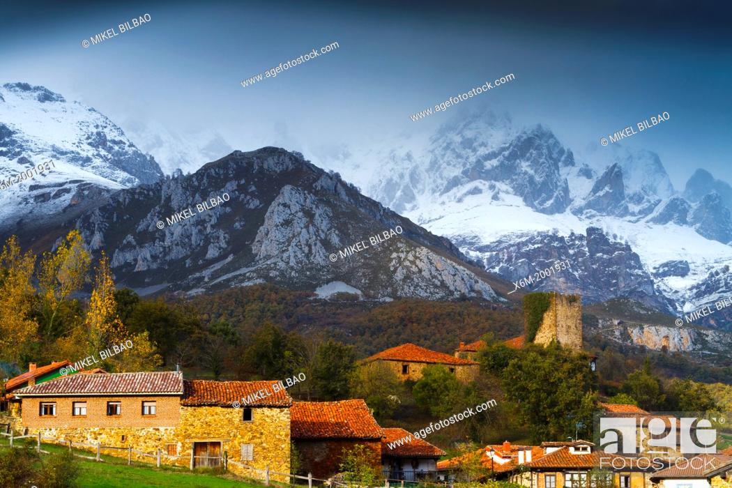 Stock Photo: Mogrovejo and Picos de Europa National Park.