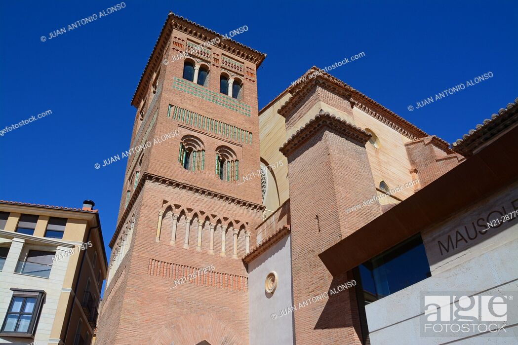 Stock Photo: Tower of San Pedro Church. Teruel, Aragón, Spain, Europe.