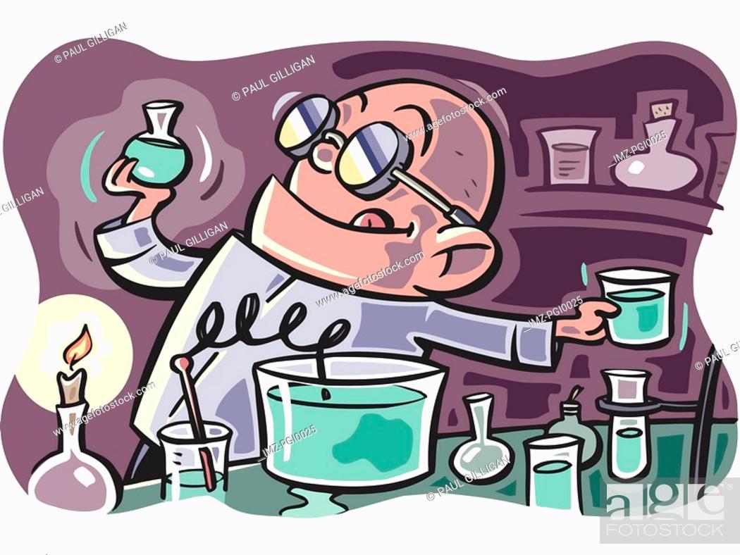 Stock Photo: Mad scientist.