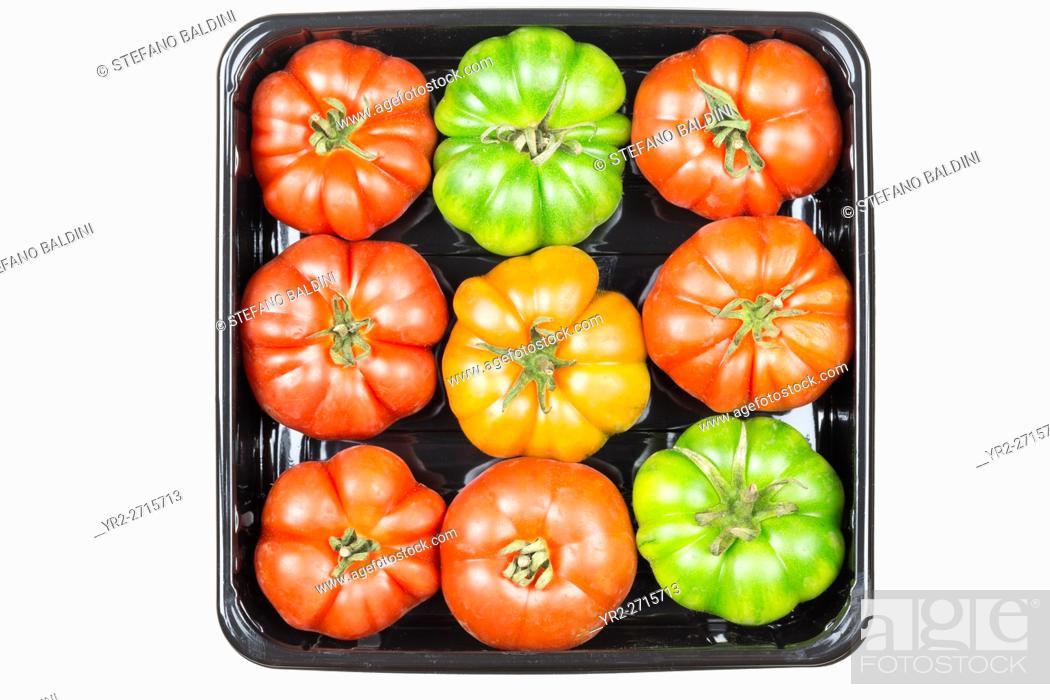 Photo de stock: Organic marinda tomatoes from Sicily, Italy.