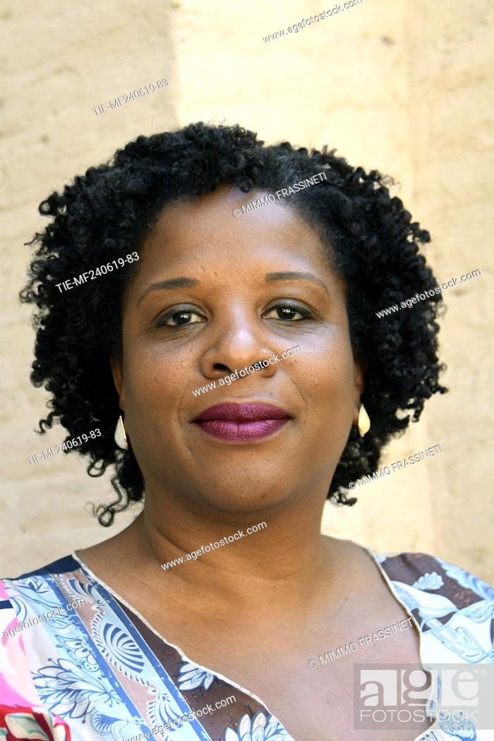Stock Photo: The writer Tayari Jones attends at the 18th International Literature Festival, Rome, ITALY-24-06-2019.