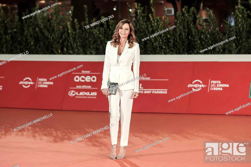 Stock Photo: Eliana Miglio on Red carpet of film 'Maledetta primavera' at the 15th Rome Film Festival, Rome, ITALY-21-10-2020.