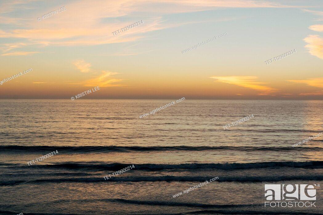 Stock Photo: Scenic seascape at sunset.