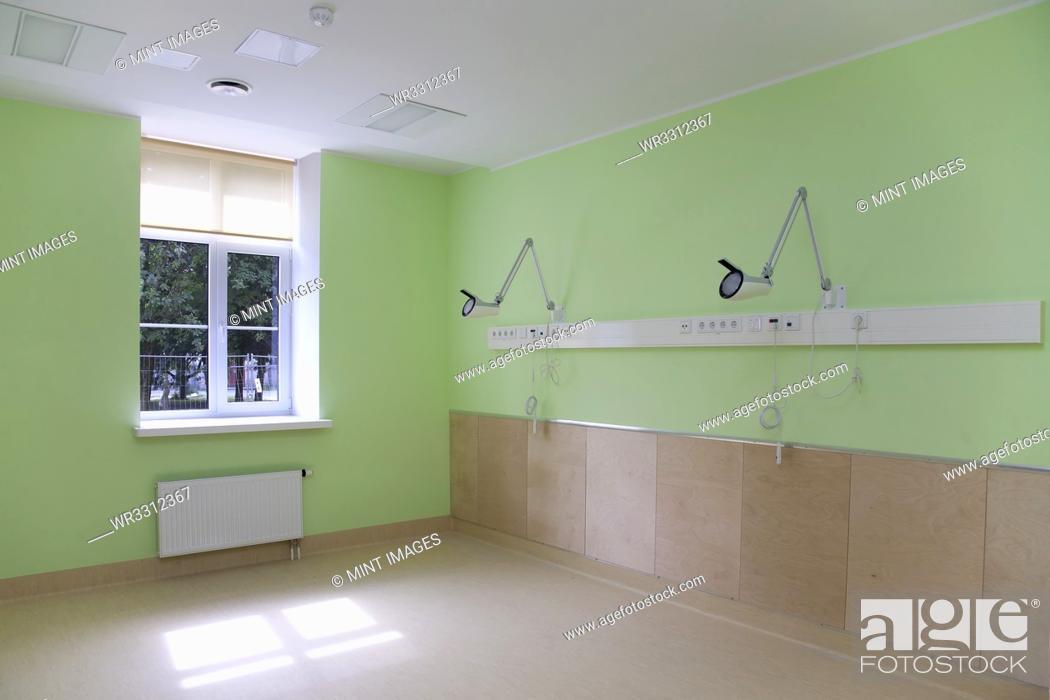 Stock Photo: Hospital Room Interior.