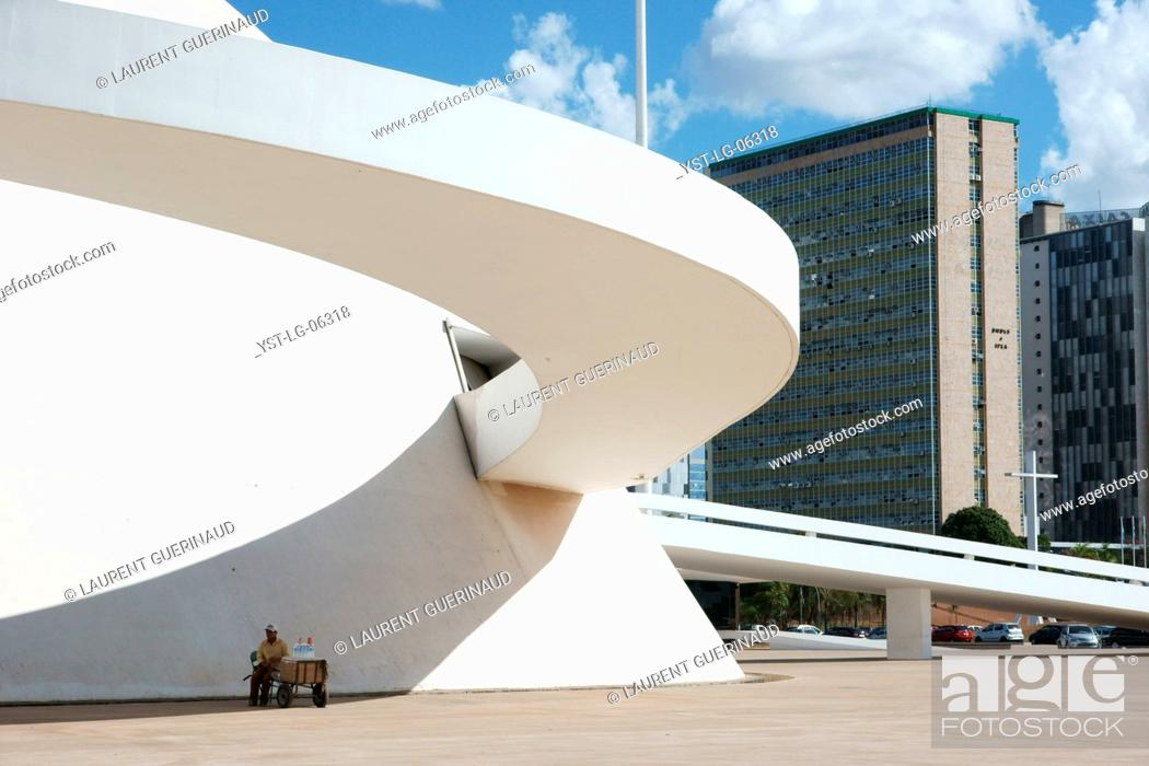 Stock Photo: National museum, Distrito Federal, Brasília, Brazil.