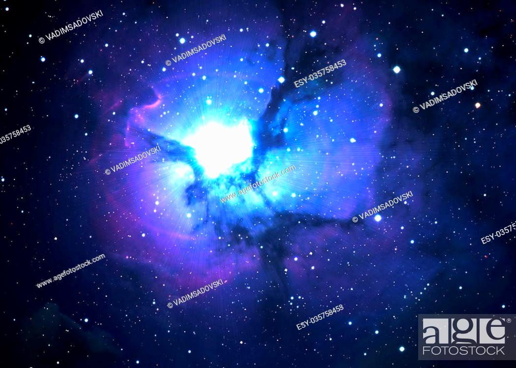Stock Photo: Star field in deep space many light years far from the Earth.
