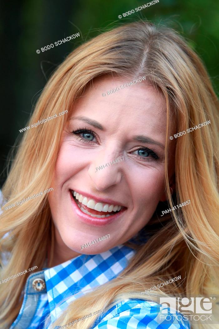 German Schlager singer Stefanie Hertel poses at the artists meeting