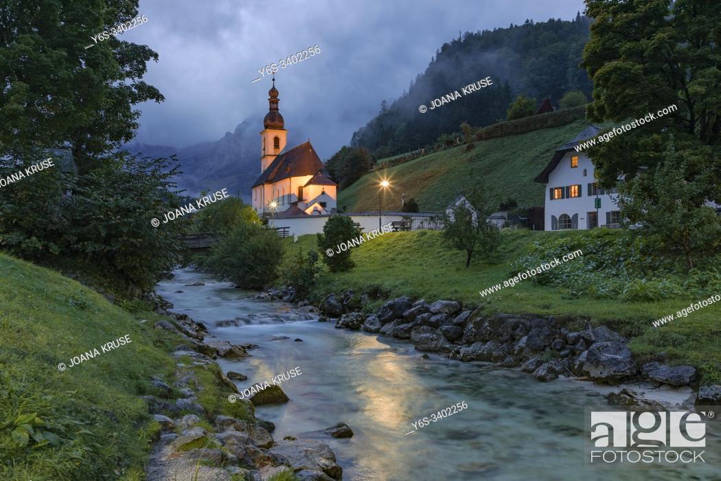 Stock Photo: Ramsau bei Berchtesgaden, Bavaria, Germany, Europe.