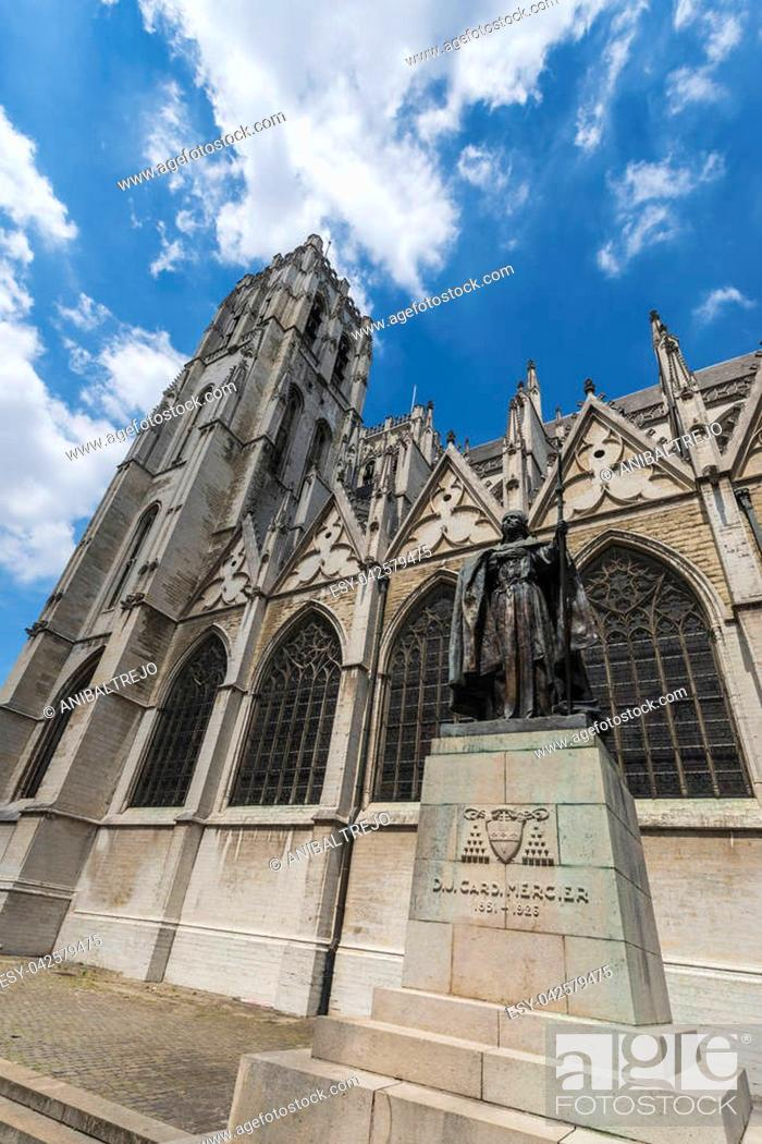 Photo de stock: Cathedral of St. Michael and St. Gudula, a Roman Catholic church on the Treurenberg Hill in Brussels, Belgium.