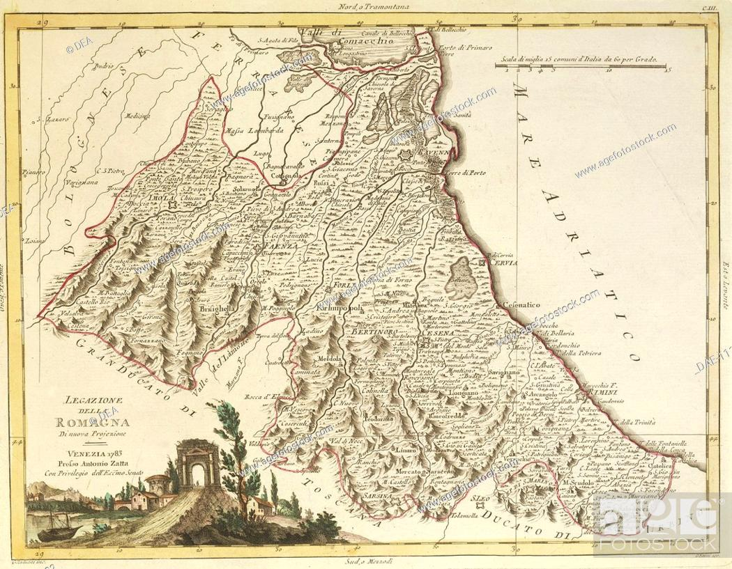 Forli Italy Map.Cartography Italy 18th Century Map Of The Papal States 1783