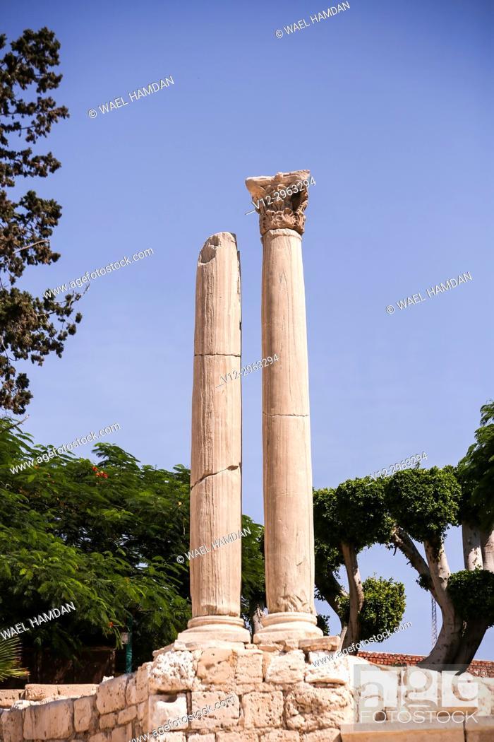 Stock Photo: The Roman theater of Kom El-Dika, Alexandria. Egypt.