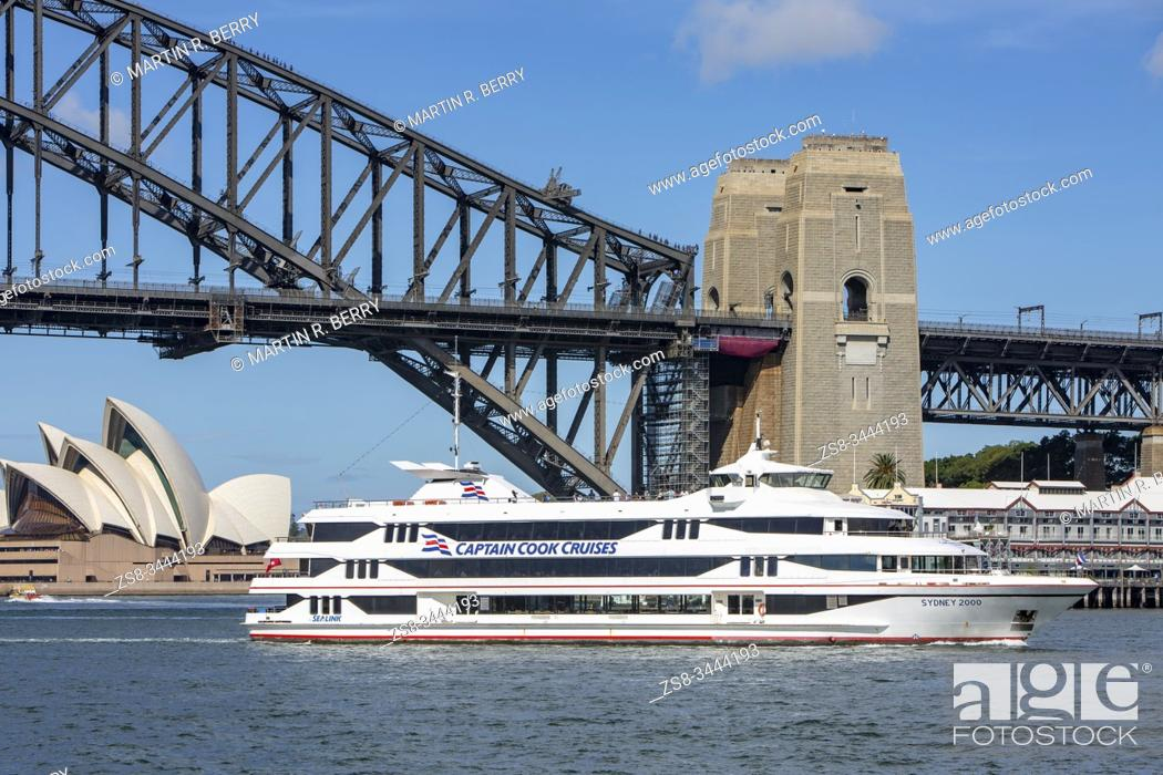 Stock Photo: Captain Cook cruises boat on Sydney harbour in Australia.