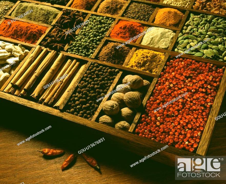 Stock Photo: Spices.