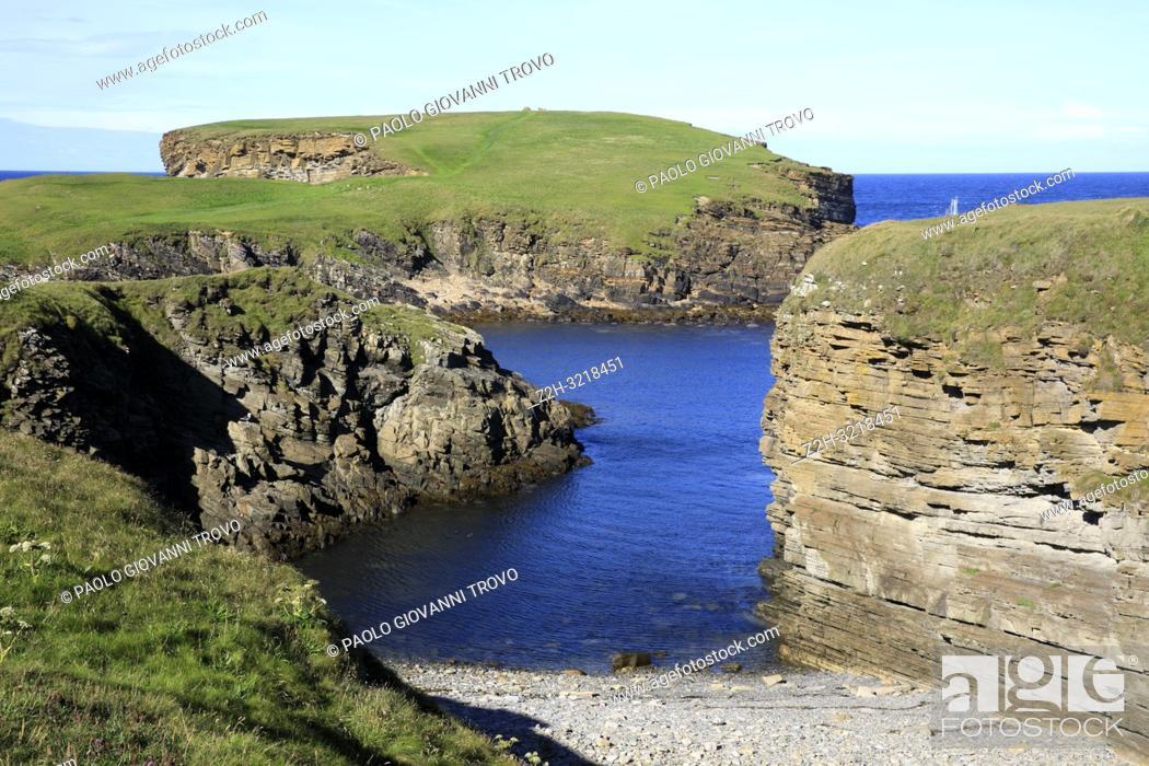 Stock Photo: Yesnaby cliffs area, Stromnessr, Orkney, Scotland, Highlands, United Kingdom.