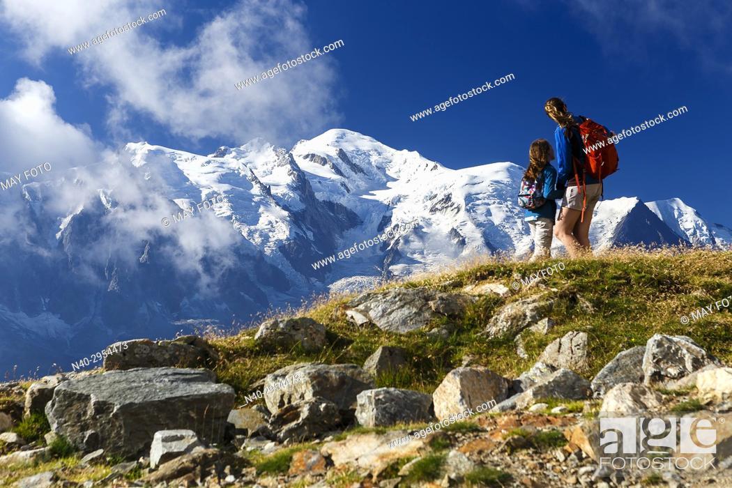 Stock Photo: Chamonix, Mont Blanc, Haute Savoie, France, Europe.