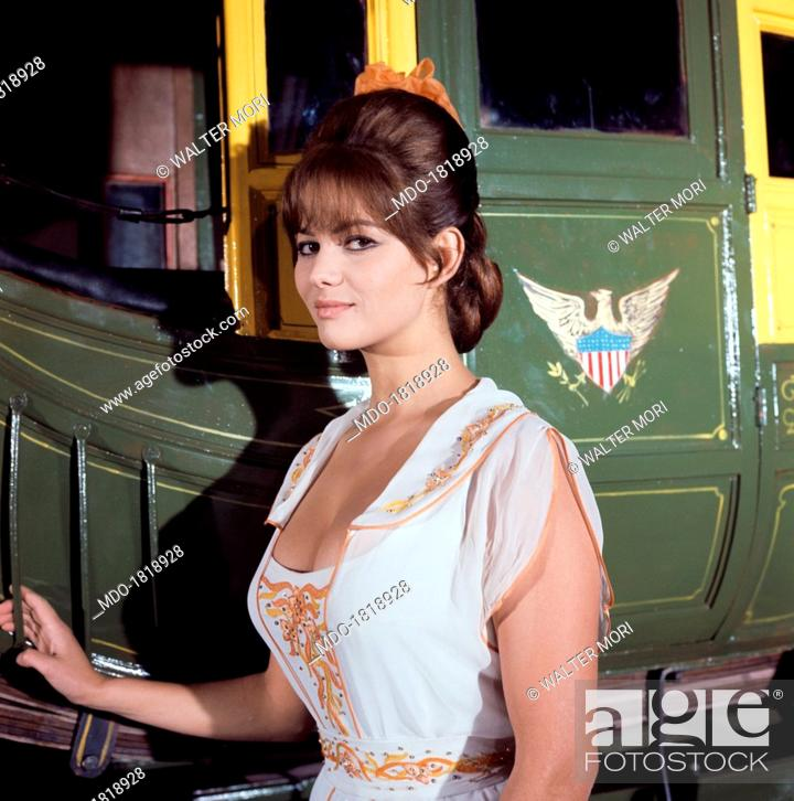 Italian Actress Claudia Cardinale Claude Josephine Rose Cardinale Standing Beside A Cart In The Stock Photo Picture And Rights Managed Image Pic Mdo 1818928 Agefotostock