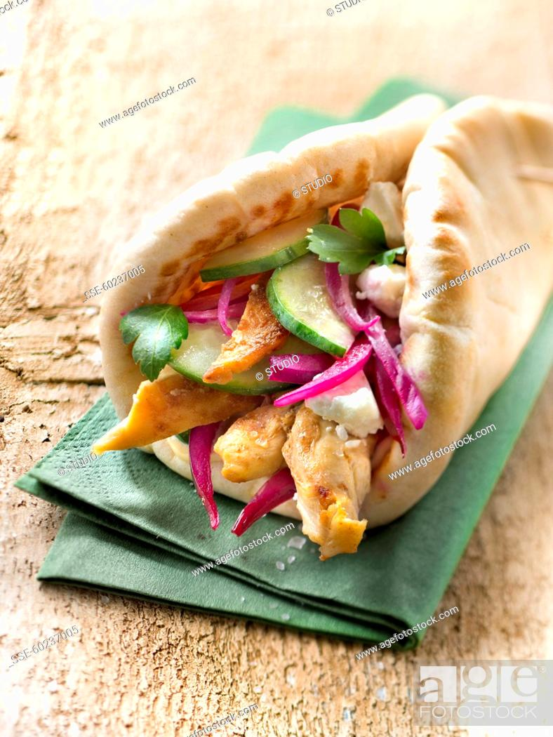 Photo de stock: Chicken Souvlaki.