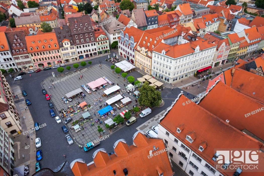 Stock Photo: View over the old town of Naumburg (Saale), Saxony-Anhalt, Germany.