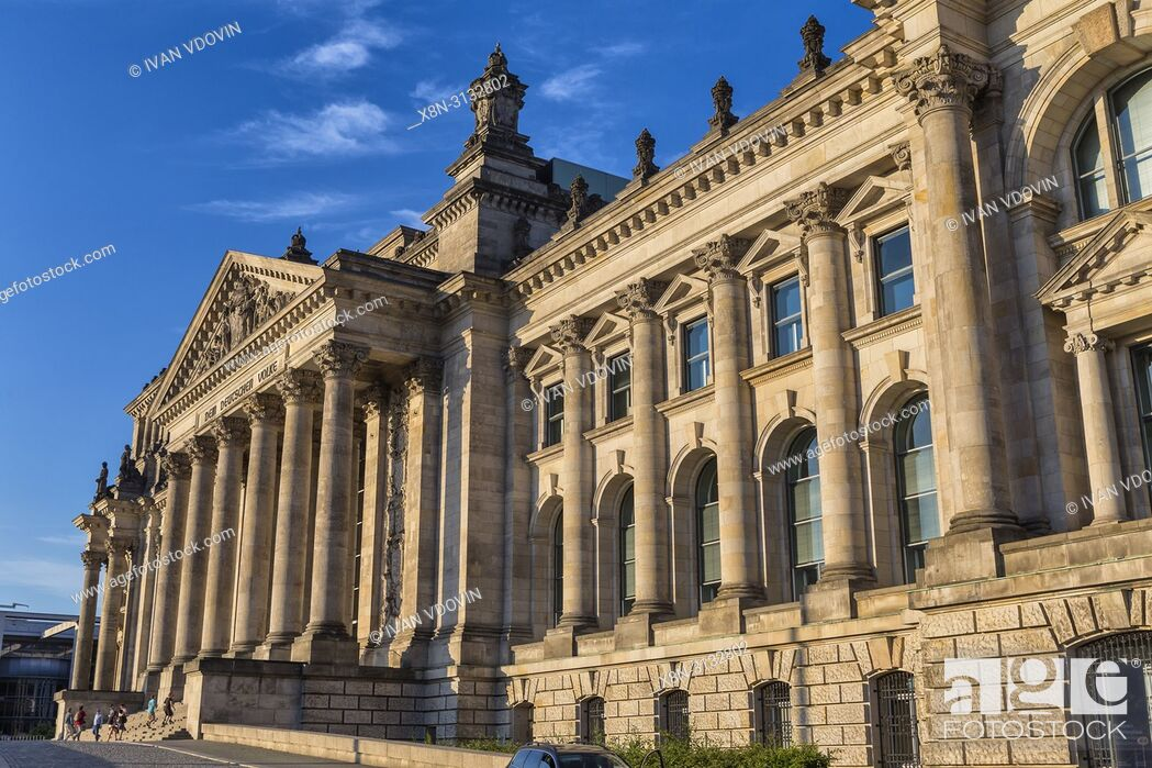 Stock Photo: Reichstag building, Berlin, Germany.