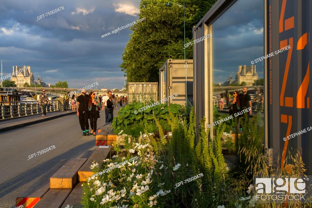 Imagen: JARDIN INTIME (INTIMATE GARDEN), RESERVE A ZZZ TO RELAX, GARDEN BY THE SEINE AS PART OF THE BANKS OF THE SEINE, URBAN MANAGEMENT PROGRAM OF THE RIGHT AND LEFT.