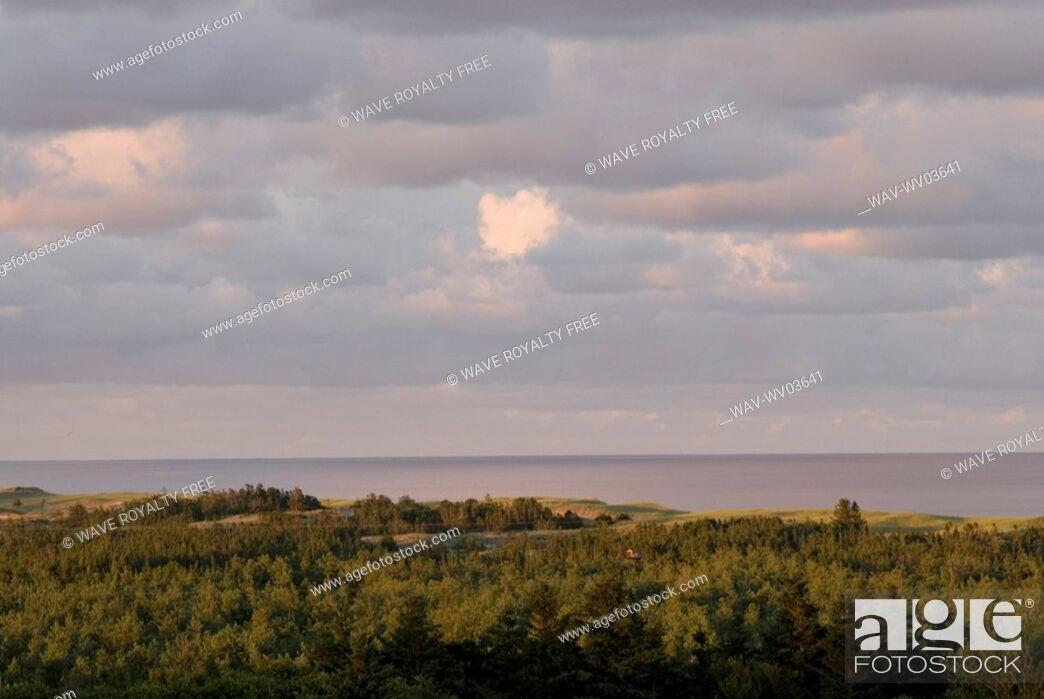 Stock Photo: Vista near Basin Head, Prince Edward Island.