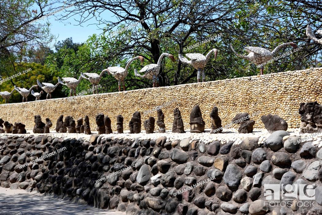 Stock Photo: rock garden, Chandigarh, haryana, India, Asia.