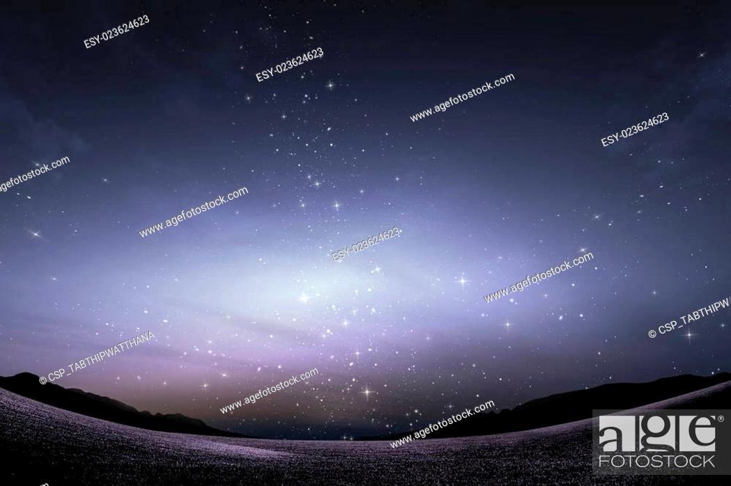 Stock Photo: milky way galaxy with stars and night sky.
