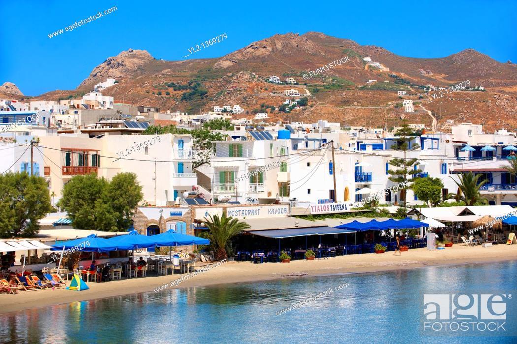 Stock Photo: Naxos  Chora  town Saint Georges Beach  Greek Cyclades Islands Greece.