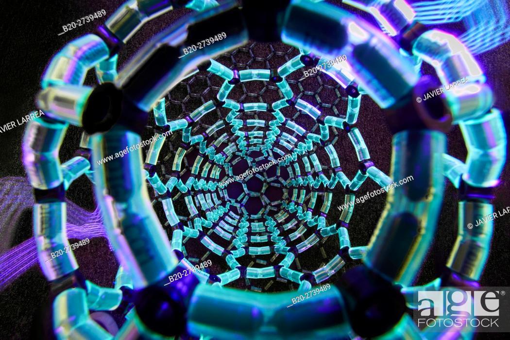 Stock Photo: Molecular structure of graphene. Recreation by Professor Juan Luis Delgado. Polymat. Donostia, San Sebastian, Gipuzkoa, Basque Country, Spain.