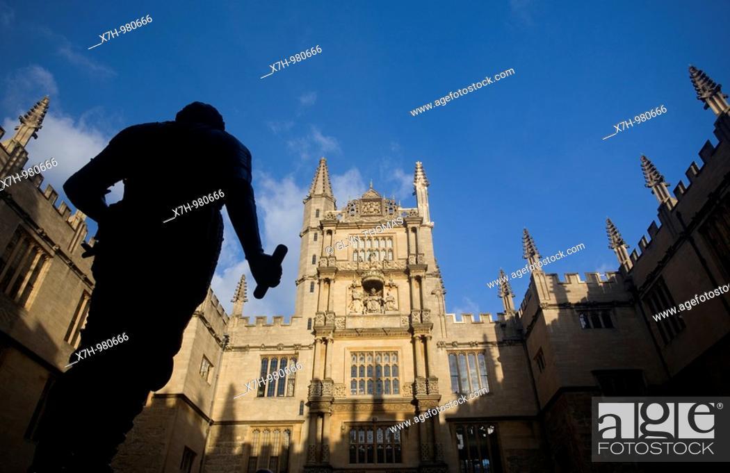 Stock Photo: Bodleian Library, Oxford, England.